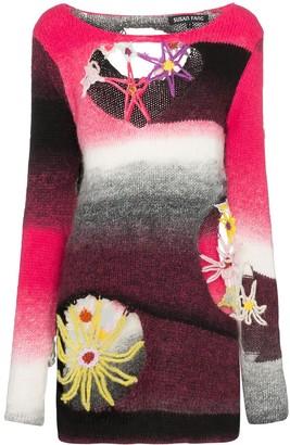 Susan Fang Cut-Out Intarsia Knit Jumper