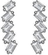 As 29 AS29 Baguette Collection 18ct White Gold White Diamond Linear 5 Earrings