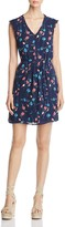 Daniel Rainn Floral Print V-Neck Dress