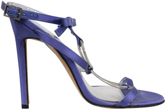 Manolo Blahnik Purple Satin Sandals Size 37