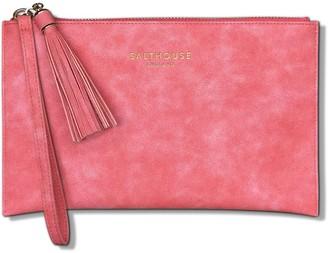 Serafina Clutch Bag - Coral Candy