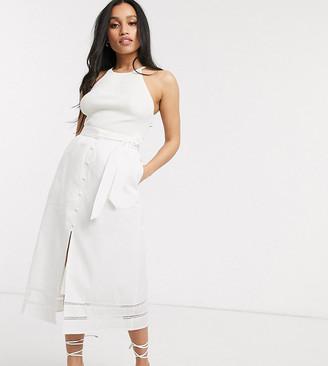 Fashion Union Petite midi skirt with front split