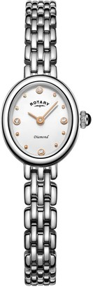 Rotary Watches Balmoral Silver Stainless Steel Watch With Rose Gold Feature