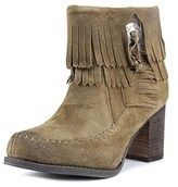 Sbicca Frankie Round Toe Leather Ankle Boot.