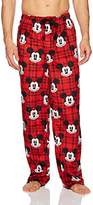 Disney Men's Mickey Buffalo Plaid Pajama Bottom