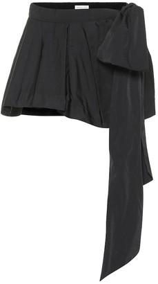Dries Van Noten Silk-blend miniskirt