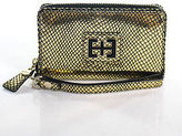 Elaine Turner Designs Gold Leather Wristlet Wallet Size Small