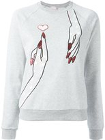Giamba embroidered hand sweatshirt - women - Cotton - 40