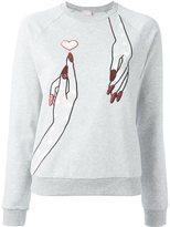 Giamba embroidered hand sweatshirt