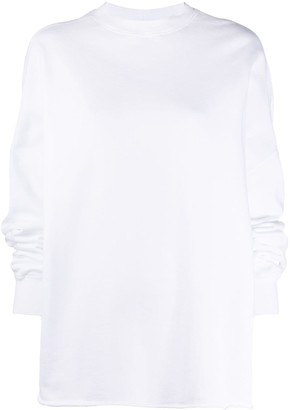 Rick Owens Oversized Dropped Shoulder Sweatshirt