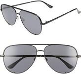 Quay High Key 62mm Aviator Sunglasses