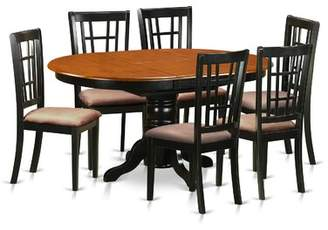 East West Furniture 7 Piece Extendable Dining Set East West Furniture