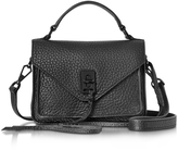 Rebecca Minkoff Black Leather Mini Darren Messenger Bag
