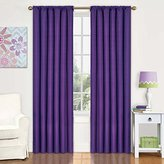 Eclipse Curtains Eclipse Kids Kendall Blackout Thermal Curtain Panel,Purple,84-Inch