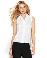 Calvin Klein Sleeveless Button-Front Shirt