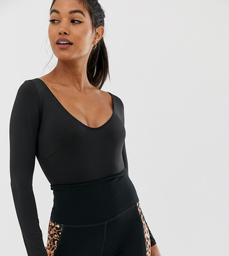 Wolfwhistle Wolf & Whistle Exclusive to ASOS Back Detail Bodysuit In Black