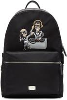Dolce & Gabbana Black Nylon DJ Designers Backpack