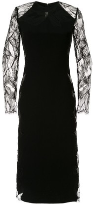 Dion Lee Floral Lace Midi Dress