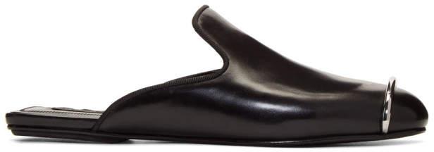 Alexander Wang Black Jaelle Slides
