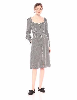 Ali & Jay Women's TAKE ME Downtown Long Sleeve FIT & Flare MIDI Dress