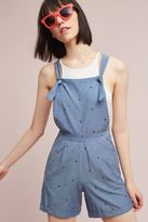 Anthropologie Eugenie Chambray Playsuit