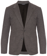 Dolce & Gabbana Bee-embroidered wool-knit blazer