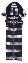 Veronica Beard Striped Zip-Front Hoodie Dickey, Navy/White