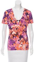 Just Cavalli Printed Short Sleeve Top