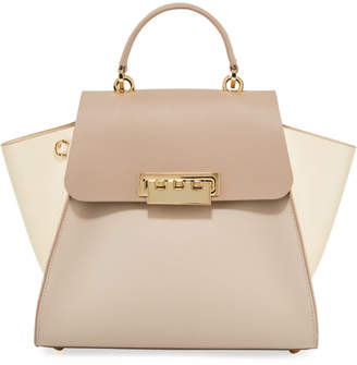 Zac Posen Eartha Medium Top Handle Leather Bag