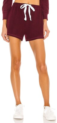 Mina Lisa Weekend Fleece High Rise Shorts