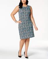 Kasper Plus Size Printed A-Line Dress