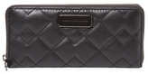 Marc by Marc Jacobs Crosby Quilted Leather Slim Zip Around Wallet