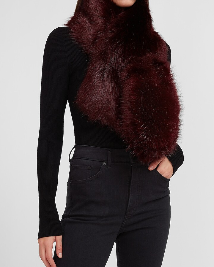 Express Faux Fur Pull-Through Oblong Scarf