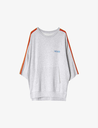 Zadig & Voltaire Kaly stripe-trimmed cotton and modal-blend sweatshirt
