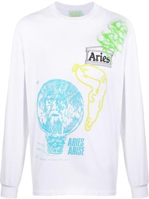 Aries graphic print logo T-shirt