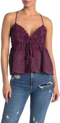 Free People Jenna Embroidered Cami