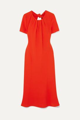 Diane von Furstenberg Rose Open-back Crepe Dress - Orange
