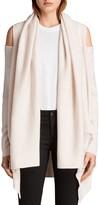 AllSaints Cava Cold-Shoulder Cardigan