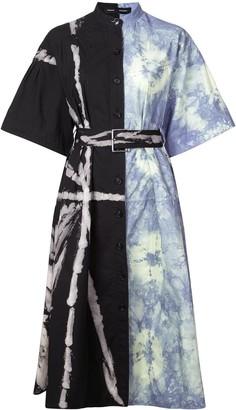 Proenza Schouler Panelled Tie-Dye Shirt Dress