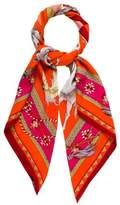 Hermes Les Chevaux Qataris Cashmere Silk Shawl