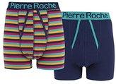 Mens Pierre Roche 2 Pack A Front Boxer Shorts Underwear