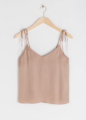 And other stories Satin Tie Shoulder Tank Top