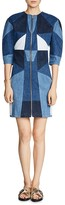 Maje Rosen Patchwork Denim Dress