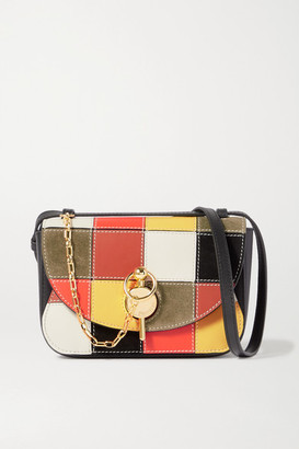 J.W.Anderson Keyts Patchwork Small Leather And Suede Shoulder Bag - Black