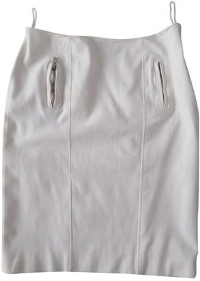Versace White Cotton - elasthane Skirt for Women Vintage