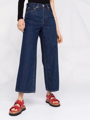 Rag & Bone Wide-Legged Cropped Jeans