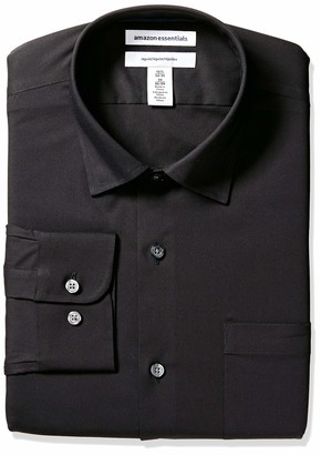 "Amazon Essentials Regular-fit Wrinkle-resistant Stretch Dress Shirt Pink 16.5"" Neck 34""-35"" Sleeve"