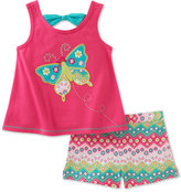 Kids Headquarters 2-Pc. Butterfly Bow-Back Top & Shorts Set, Baby Girls (0-24 months)