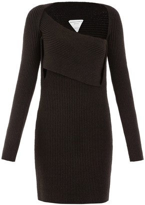 Bottega Veneta Ribbed Knitted Mini Dress