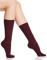 Hue Midweight Wide Rib Socks